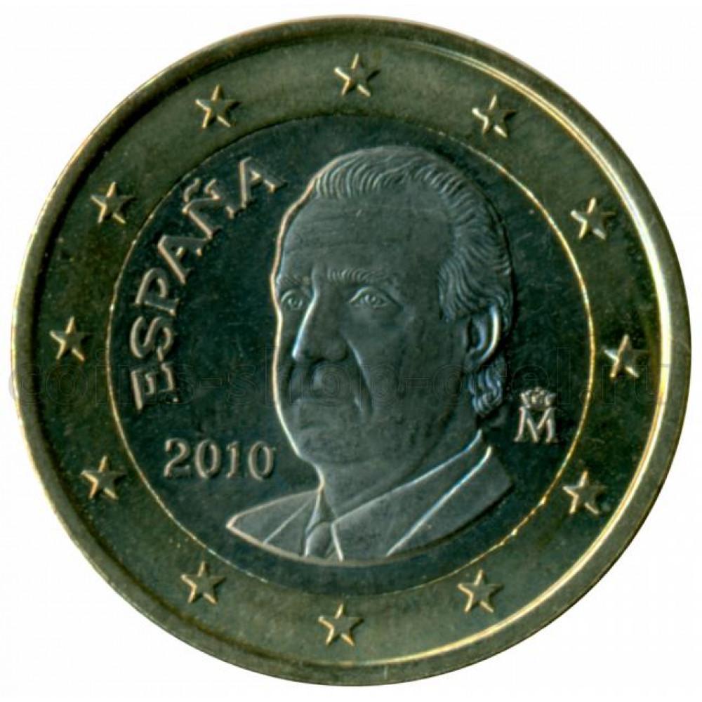 1 евро 2010 Испания - 1 euro 2010 Spain, из оборота