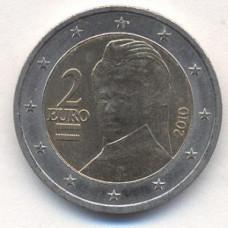 2 евро 2010 Австрия - 2 euro 2010 Austria