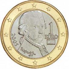 1 евро 2005 Австрия - 1 euro 2005 Austria