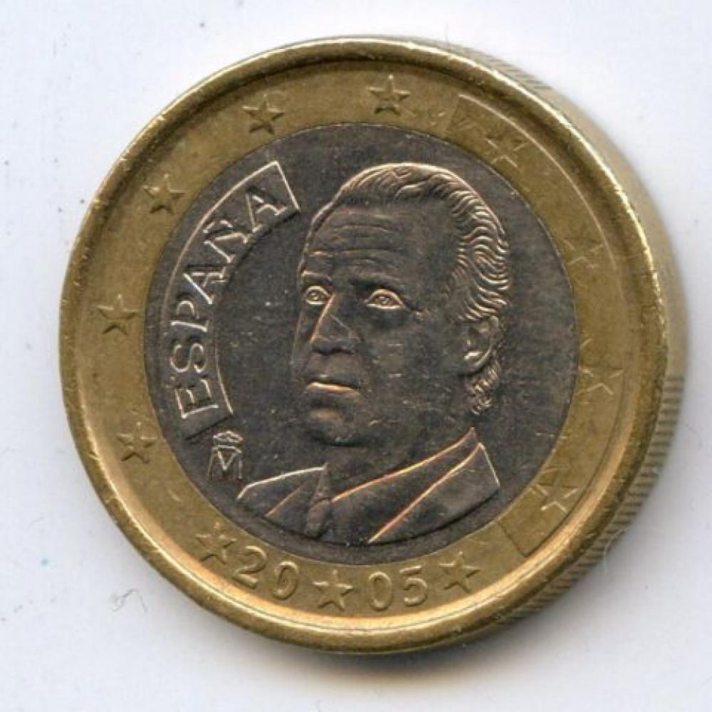 1 евро 2005 Испания - 1 euro 2005 Spain, из оборота