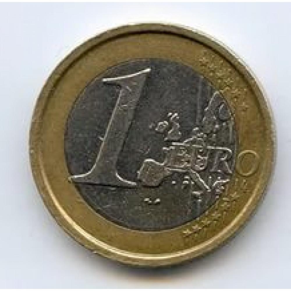 1 евро 2007 Испания - 1 euro 2007 Spain, из оборота