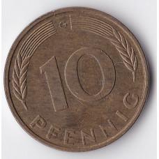 10 пфеннигов 1992 Германия - 10 pfennig 1992 Germany,G