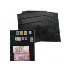 "Двухсторонний лист для хранения марок и бон 200Х250 мм на 12 ячеек 30х180 мм . Стандарт ""OPTIMA""."