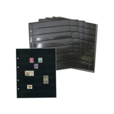"Двухсторонний лист для хранения марок и бон 200Х250 мм на 14 ячеек 30х180 мм . Стандарт ""OPTIMA""."