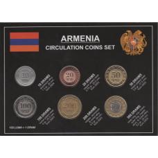 Подарочный набор монет Армении, в блистере.