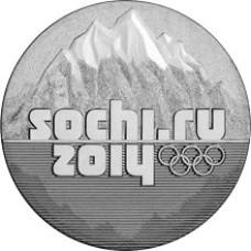 """25 рублей 2011 СПМД """"Горы Сочи 2014"""""""