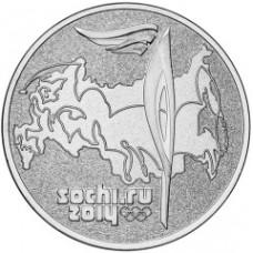 """25 рублей 2014 СПМД """"Факел Сочи 2014"""""""