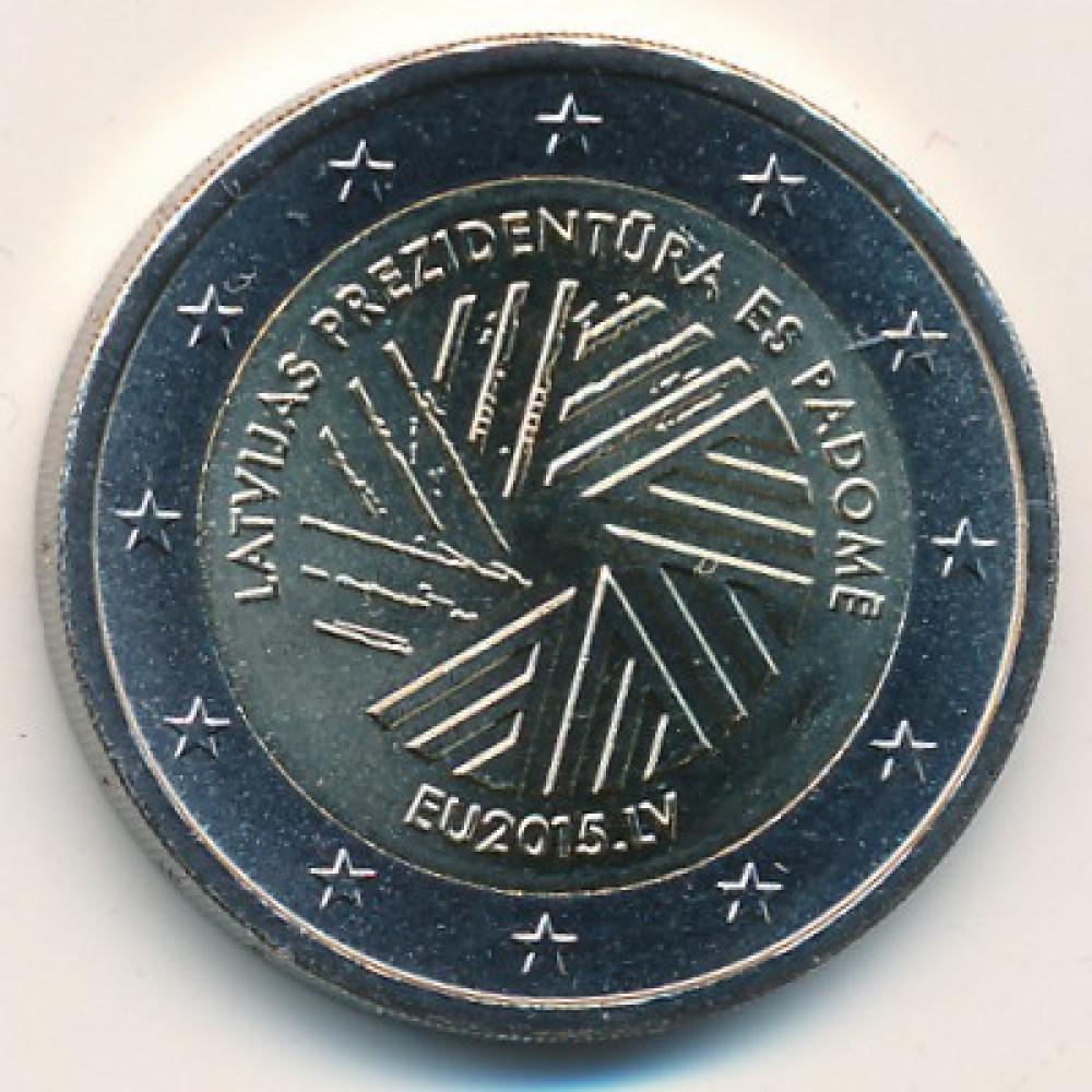 2 евро 2015 Латвия - 2 euro 2015 Latvia, Председательство Латвиии в Евросоюзе
