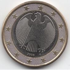 1 евро 2004 года Германия - 1 euro 2004 Germany, F, из оборота