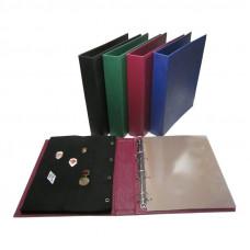 Альбом вертикальный для значков Классик-Grand, с листами на ткани