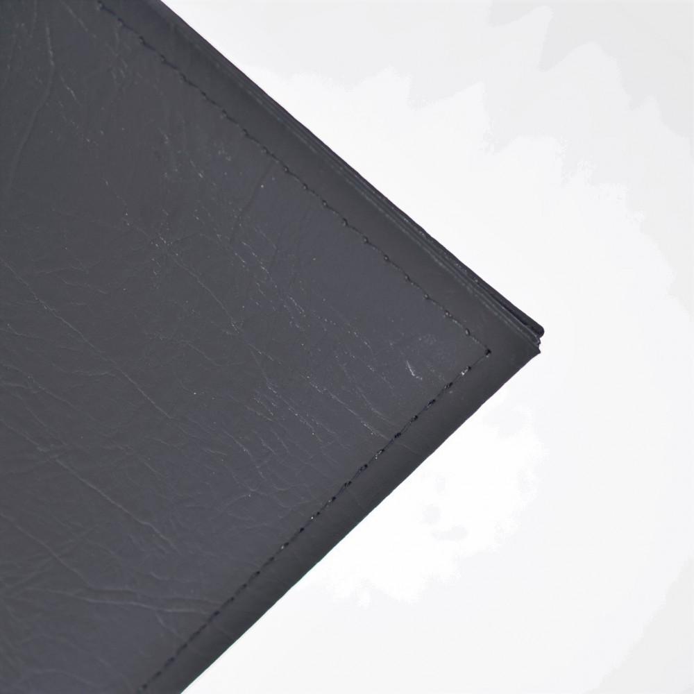 """Альбом для банкнот """"ЭЛИТ-ПЛЮС-ЧЕРНЫЙ"""" с 10 листами. Тиснение золотом. Без шубера. Стандарт OPTIMA. Размер 230Х270 мм."""