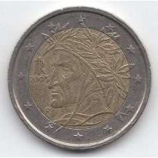 2 евро 2005 Италия - 2 euro 2005 Italy, из оборота