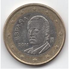 1 евро 2011 Испания - 1 euro 2011 Spain, из оборота