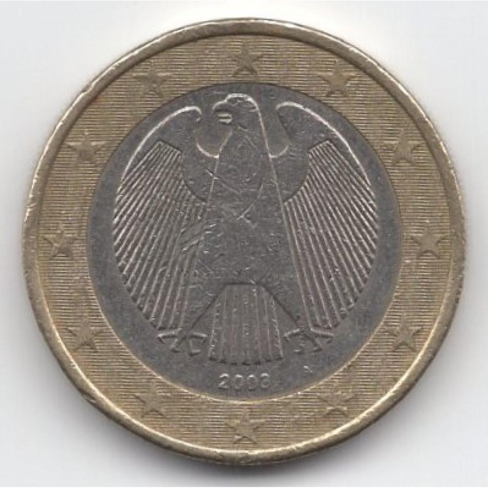 1 евро 2003 Германия - 1 euro 2003 Germany, А