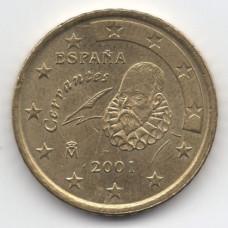 50 евроцентов 2001 года Испания - 50 euro cents 2001 Spain, из оборота