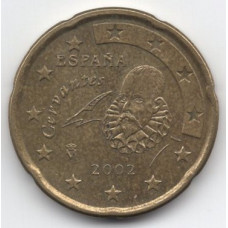 20 евроцентов 2002 Испания - 20 euro cents 2002 Spain, из оборота