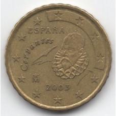 10 евроцентов 2003 года Испания - 10 euro cent 2003 Spain, из оборота