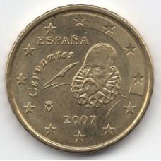 10 евроцентов 2007 года Испания - 10 euro cents 2007 Spain, из оборота