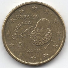 10 евроцентов 2010 года Испания - 10 euro cents 2010 Spain, из оборота