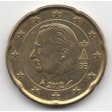 20 евроцентов 2012 Бельгия - 20 euro cents 2012 Belgium, из оборота