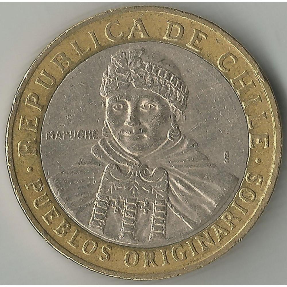 Монета 100 песо 2008 Чили