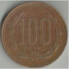 Монета 100 песо 1998 Чили