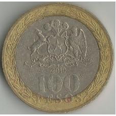Монета 100 песо 2010 Чили