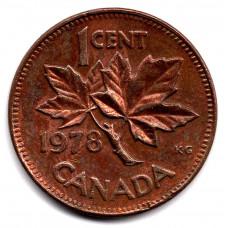 1 цент 1978 Канада - 1 cent 1978 Canada, из оборота