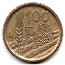 100 песет 1995 Испания - 100 pesetas 1995 Spain, из оборота
