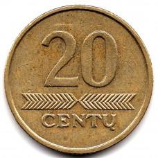 20 центов 2007 Литва -  20 cents 2007 Lithuania, из оборота