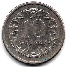 10 грошей 1990 Польша - 10 groszy 1990 Poland, из оборота