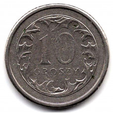 10 грошей 1993 Польша - 10 groszy 1993 Poland, из оборота