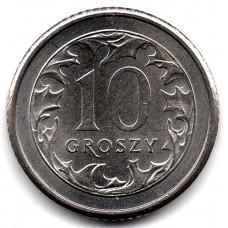 10 грошей 1992 Польша - 10 groszy 1992 Poland, из оборота