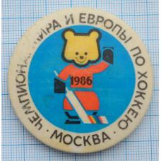 Значок Чемпионат мира по хоккею 1986, СССР
