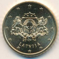 50 евроцентов 2014 Латвия - 50 euro cent 2014 Latvia, из оборота