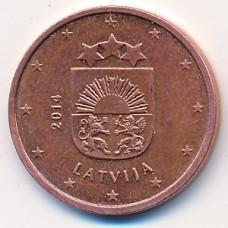 5 евроцентов 2014 Латвия - 5 euro cent 2014 Latvia, из оборота
