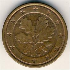 1 евроцент 2002 Германия - 1 euro cent 2002 Germany, A