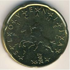 20 евроцентов 2007 Словения - 20 euro cents 2007 Slovenia