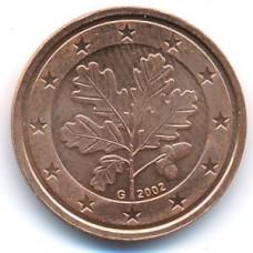 2 евроцента 2002 Германия - 2 euro cent 2002 Germany, G, из оборота