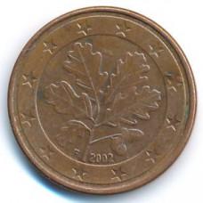 5 евроцентов 2002 Германия - 5 euro cent 2002 Germany, F, из оборота