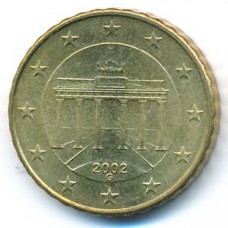 10 евроцентов 2002 Германия - 10 euro cent 2002 Germany, G