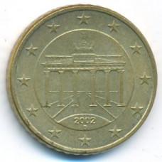 50 евроцентов 2002 года Германия - 50 euro cents 2002 Germany, D, из оборота