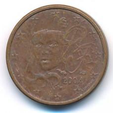 1 евроцент 2004 года Франция - 1 euro cent 2004 France