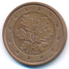 5 евроцентов 2014 Германия - 5 euro cent 2014 Germany, А, из оборота