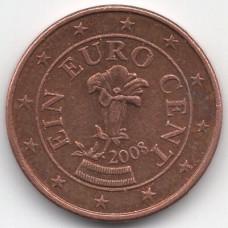 1 евроцент 2008 Австрия - 1 euro cent 2008 Austria