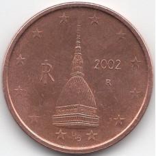 2 евроцента 2002 года Италия - 2 euro cent 2002 Italy, из оборота