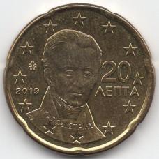 20 евроцентов 2019 года Греция - 20 euro cents 2019 Greece, из оборота