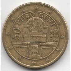 50 евроцентов 2009 Австрия - 50 euro cent 2009 Austria, из оборота