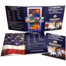 Альбом-планшет для 25-центовых монет США (1999-2009). Штаты и территории