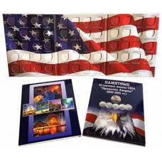 """Альбом-планшет для 25-центовых монет США (2010-2021) Серия """"Прекрасная Америка"""""""